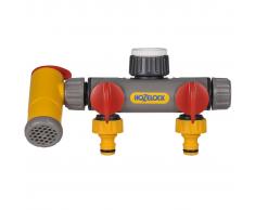 Hozelock 2250 Flowmax Presa rubinetto a 3 vie