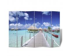 vidaXL Parete divisoria privacy divisorio 240 x 180 spiaggia