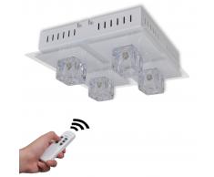 vidaXL Lampada RGB LED da soffitto Colori interscambiabili 4 lampadine