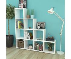 Libreria a scala / Mensole 142 cm Bianca