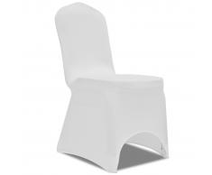 vidaXL Coprisedia in Tessuto elasticizzato Bianco 50 pezzi