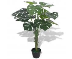 vidaXL Monstera Pianta Artificiale con Vaso 70 cm Verde