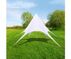 vidaXL Gazebo padiglione tenda da giardino a stella esagonale 12m