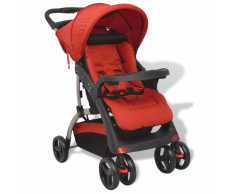 vidaXL Passeggino Rosso 102 x 52 x 100 cm