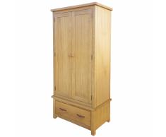 vidaXL Armadio con 1 cassetto in legno di quercia 90x52x183 cm