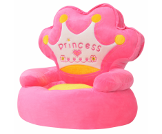 vidaXL Poltrona Imbottita per Bambini Principessa Rosa