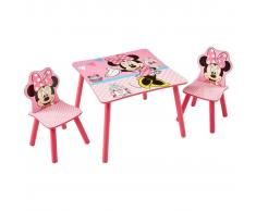 Disney Tavolo con 2 Sedie di Minnie 63x63x45 cm Rosa WORL222013