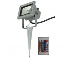 Luxform Faretto da Giardino Ceres a LED 230 V con Telecomando