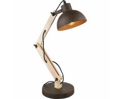 GLOBO Lampada da Scrivania JEFF I in Legno e Metallo 21500