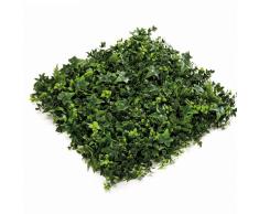Emerald 4 Pz Tappetini di Piante Miste Verdi 50x50 cm 417983