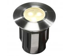 Garden Lights Luce ad incasso a LED Alpha Acciaio Inox