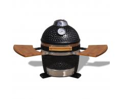 vidaXL Barbecue Kamado in ceramica griglia fumatore 44 cm