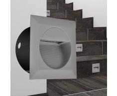 vidaXL Set 2 Luci da incasso a LED quadrate per le scale 126 x 65,5 mm