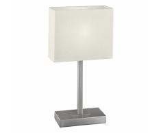 EGLO Lampada da Tavolo PUEBLO Nickel e Beige 87598