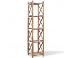 vidaXL Scaffale a 5 piani in legno di bambù