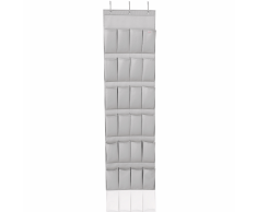 Leifheit 24 Scarpiera da Appendere a Tasche Grigia 47,5x5x165,8 cm 80016