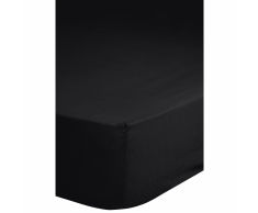 Emotion Lenzuolo con Angoli Jersey 90/100x200 cm Nero 0200.04.42