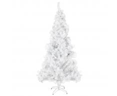 vidaXL Albero di Natale Artificiale Supporto Acciaio e 910 Rami 210 cm