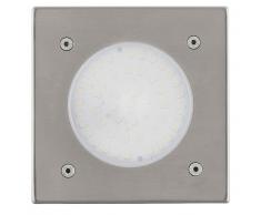 EGLO Faretto a LED Interrato da Esterno Lamedo 2,5 W Quadrato Argento