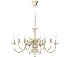 vidaXL Lampadario Stile Antico Metallo Bianco lampadine 8 x E14