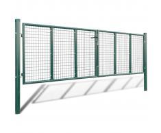 vidaXL Cancello a Rete per Giardino 415 x 175 cm / 400 125