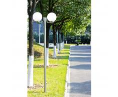 Lampione da giardino Monate h. 220 cm, 2 lampade