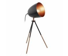 EGLO Lampada da Tavolo CHESTER Nera e Ramata 49385