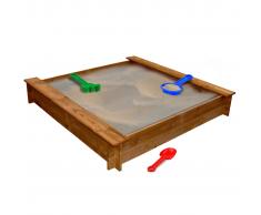 vidaXL Sabbiera quadrata in legno