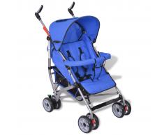 Passeggino carrozzino per bambini 5 posizioni stile moderno blu