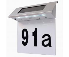 vidaXL Luce Ecologica a LED per Numero Civico in Acciaio Inossidabile