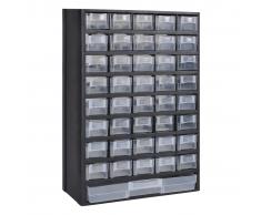 vidaXL armadietto di stoccaggio con 41 cassetti in plastica,