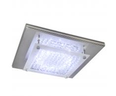 vidaXL Lampada da Soffitto Quadrata con Perline di Cristallo