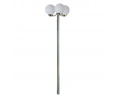 vidaXL Lampione da giardino Monate h. 220 cm, 3 lampade