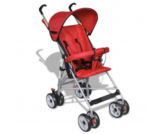 vidaXL Passeggino carrozzino per bambini stile moderno rosso