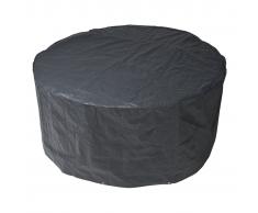 Nature Copertura per mobili da giardino 90 x 205 cm PE grigio scuro