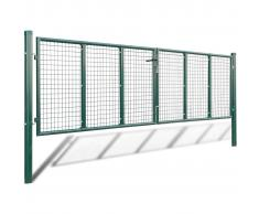 vidaXL Cancello a Rete per Giardino 415 x 125 cm / 400 75