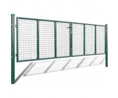 vidaXL Cancello a Rete per Giardino 415 x 150 cm / 400 100 cmm