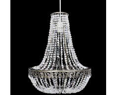 vidaXL Lampadario da Soffitto con Paralume Cristallo 36,5 x 46 cm
