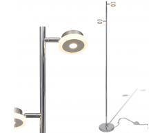 vidaXL Lampada da terra regolabile con 2 lampadine a LED di 5 W