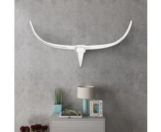 vidaXL Decorazione da parete Testa toro colore argento 125 cm