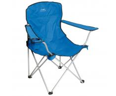 Camp Gear Seggiolino da Campeggio Pieghevole in Alluminio Blu 1267188