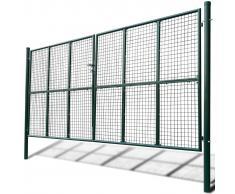 vidaXL Cancello a Rete per Giardino 415 x 225 cm / 400 175