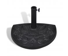 vidaXL Base per parasole/ombrellone semicircolare in resina
