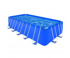 vidaXL Sopra la terra piscina rettangolare in acciaio di 540 x 270 122 cm