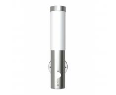 vidaXL Lampioncino da giardino in acciaio inox, sensore di movimento 60 w