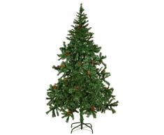 vidaXL Albero di Natale Artificiale con Pigne 180 cm