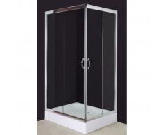 vidaXL Cabina doccia rettangolare 100 x 80 cm.