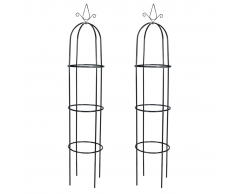 vidaXL Set 2 pz Torre ad Arco per Piante Rampicanti da Giardino