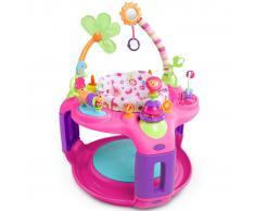 Bright Starts Seggiolino Gioco Sweet Safari Bounce-A-Round Rosa K6033