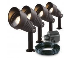 Garden Lights 4 pz Faretti da Giardino Focus in Alluminio 3151014